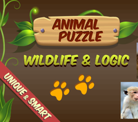 Animal puzzle wildlife and logic
