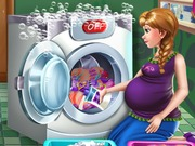 Anna Pregnant Laundry Day