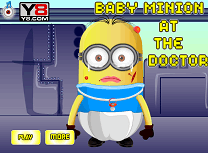 Baby minion at the doctor
