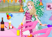 Barbie birthday party room cleaning