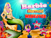 Barbie sirène maquillage gratuit - Barbie Mermaid Makeover