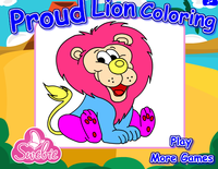 Coloriage lion fier