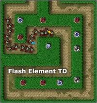 Flash element td