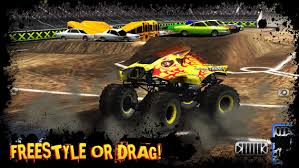 Monster truck arena with ramps - Ultimate Stunts 3D