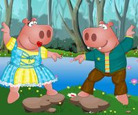 Mr. and Mrs. hippo dress up