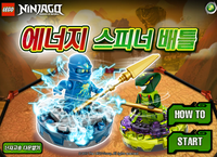 Ninjago energy spinnger battle