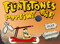 Voiture pierrafeu - Flintstones car parking
