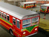 Bus man parking 3d ville gratuit